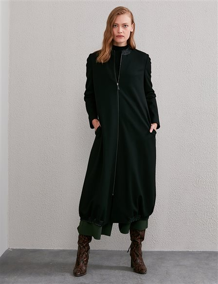 Judge Collar Trench Coat A20 25112 Black
