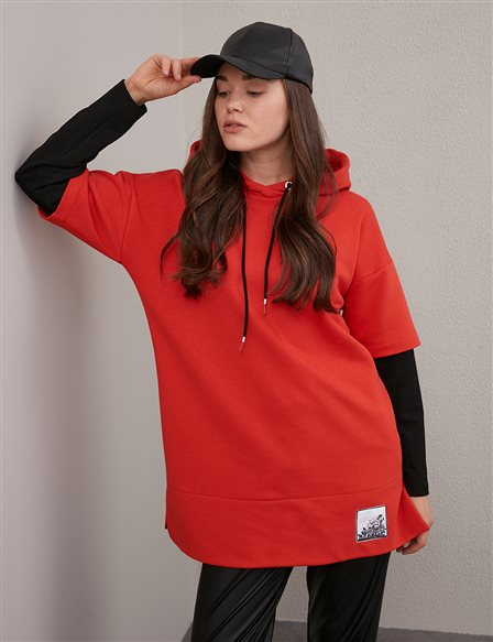 Hooded Sweatshirt A20 31001 Red
