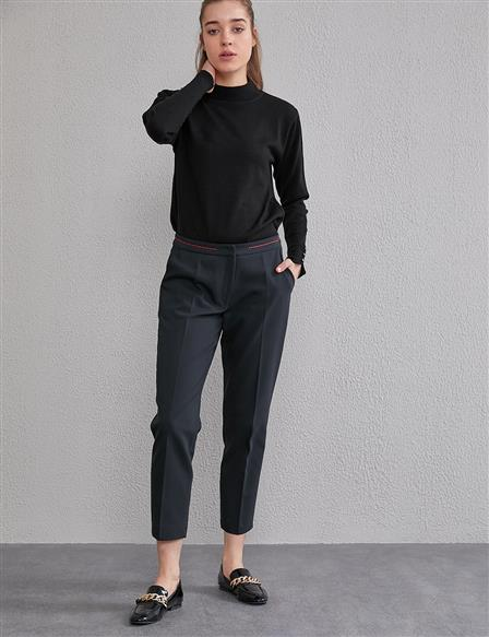 KYR Classic Fit Carrot Pants A20 79004 Black
