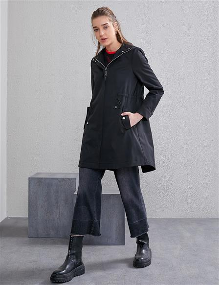 Hooded Coat A20 24015 Black