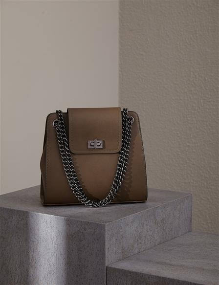 Chain Strap Bag With Cover A20 CNT20 Khaki