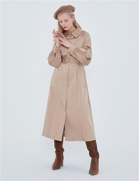 Belted Trench Coat A20 14028 Beige