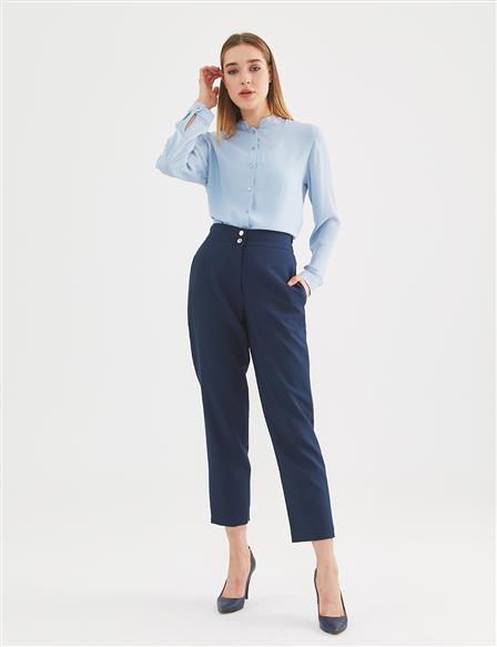 KYR Carrot Fit Pants A20 79515 Navy