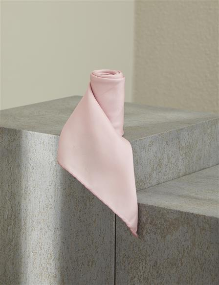 Solid Color Silk Scarf B9 ESP01 Pink