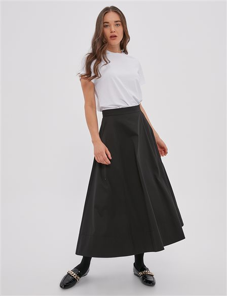 Cotton Skirt A20 12048 Black