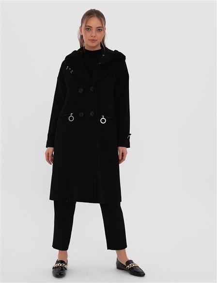 Hooded Cachet Coat A9 17003 Black