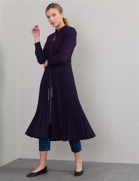 Pleated Coat A9 25092 Purple