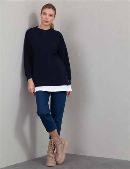 Casual Fit Sweatshirt A20 31014 Navy