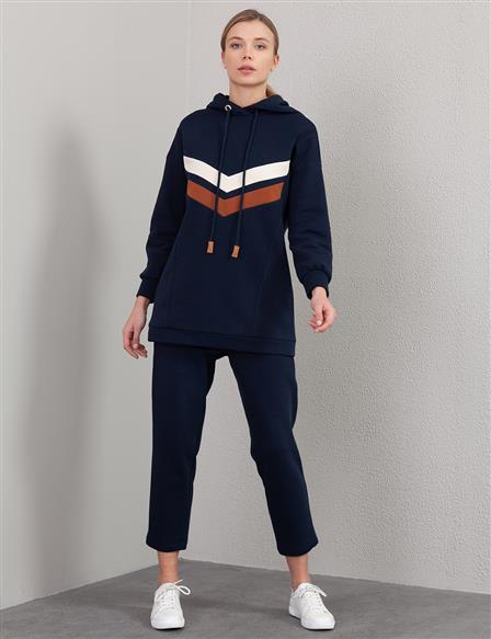 Striped Sweatshirt A20 31010 Navy