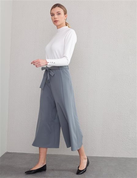 KYR Belted Wide Leg Pants A20 79558 Naphta