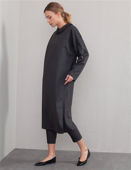 Slit Long Tunic A20 21107 Smoked