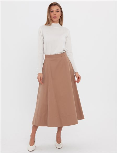 Cotton Skirt A20 12048 Beige