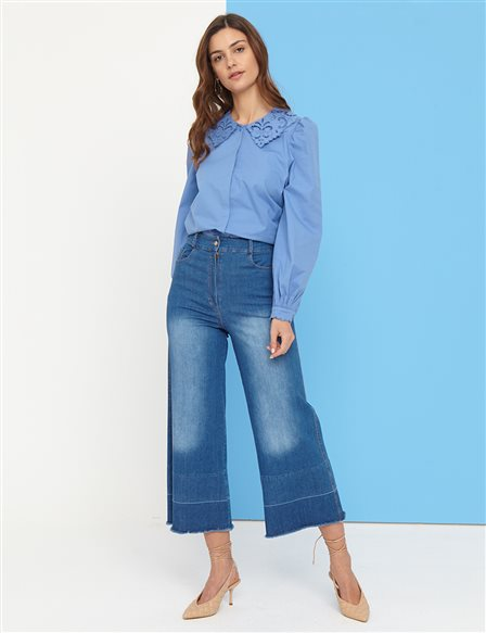 Denim Pants B21 19077A Blue