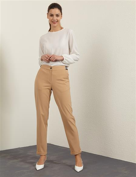 KYR Double Leg Pants B21 79011 Beige