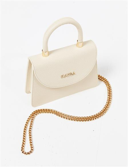 Artificial Leather Mini Hand Bag B21 CNT06 Beige