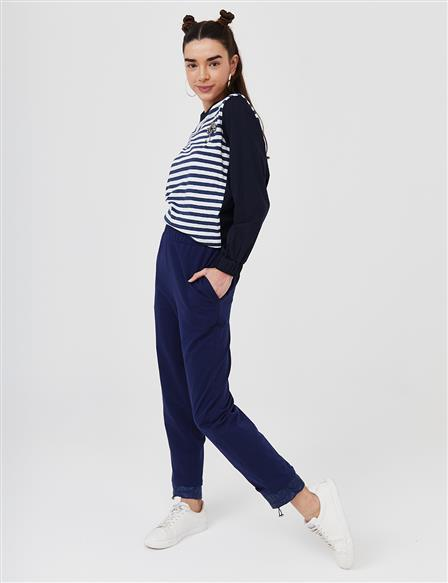 Casual Fit Sport Pants B21 19025 Navy