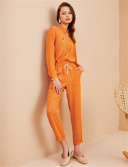 KYR Laced Carrot Pants Orange B21 79016