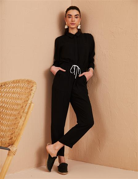 KYR Laced Carrot Pants Black B21 79016