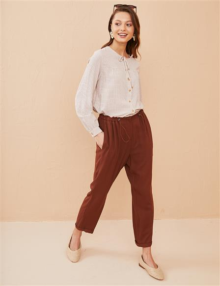 KYR Casual Fit Double Leg Pants B21 79020 Cinnamon