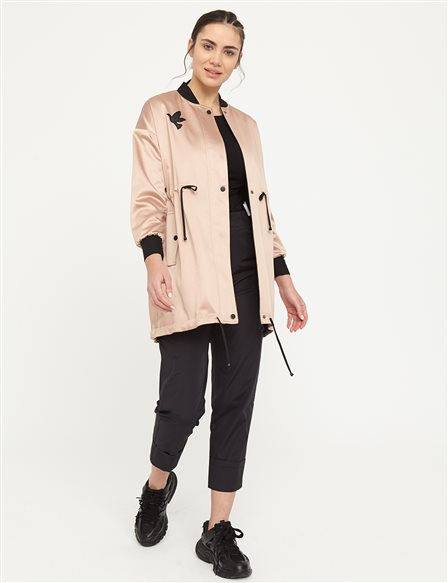 KYR Bird Logo Laced Coat B21 84001 Beige