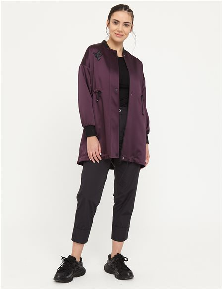KYR Bird Logo Laced Coat B21 84001 Plum