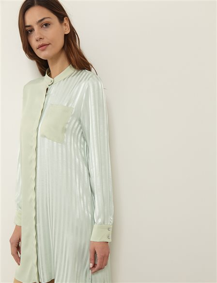 Piece Detailed Jacquard Tunic B21 21250 Water Green