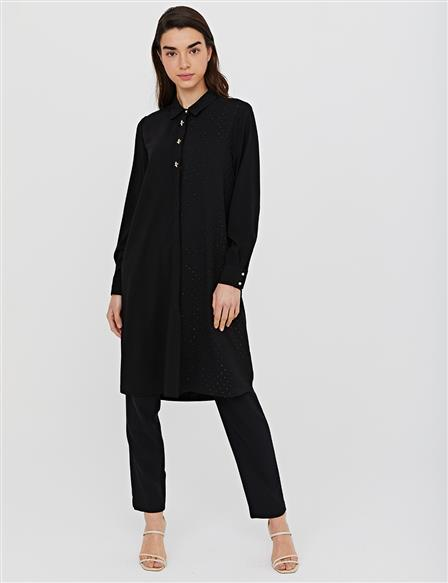 KYR Hidden Pav Long Tunic B21 81030 Black