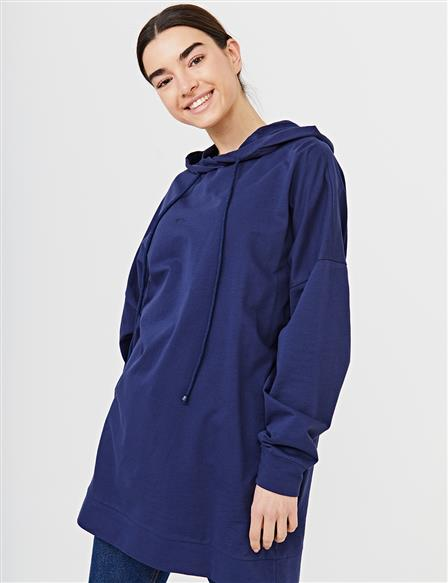 Hooded Oversize Tunic B21 21280 Navy