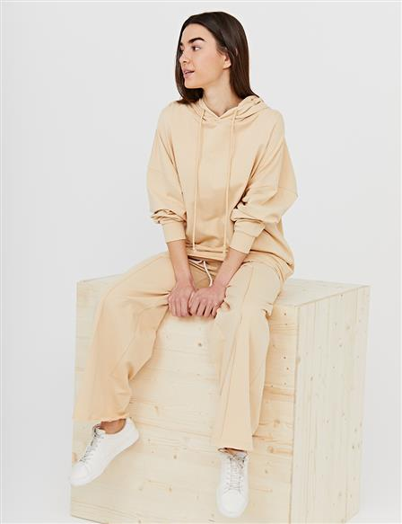 Hooded Oversize Tunic B21 21280 Beige