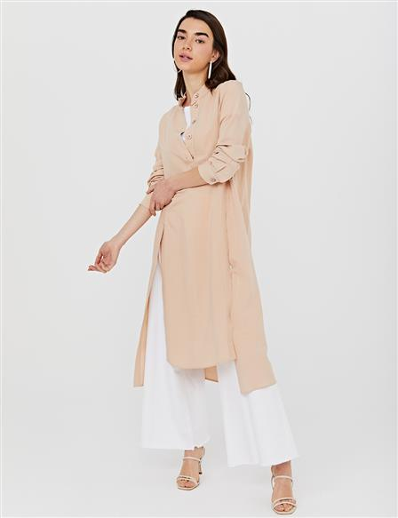 KYR Slit Judge Collar Tunic B21 81054 Salmon