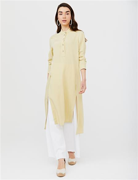 KYR Slit Judge Collar Tunic B21 81054 Light Yellow