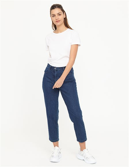 Basic Mom Jeans B21 19079 Navy