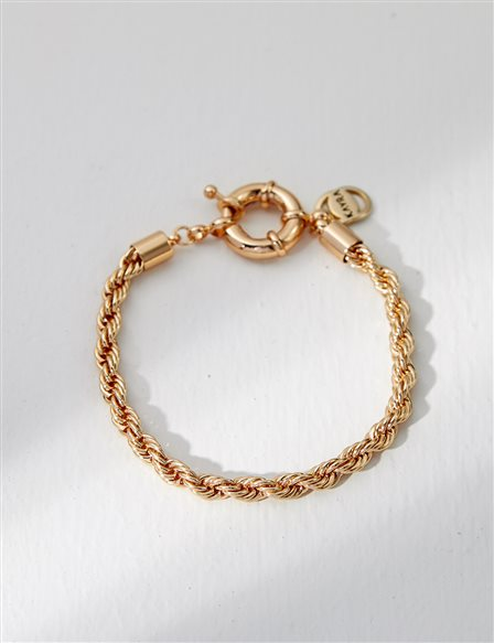 Twisted Straw Bracelet B21 BLK03 Gold