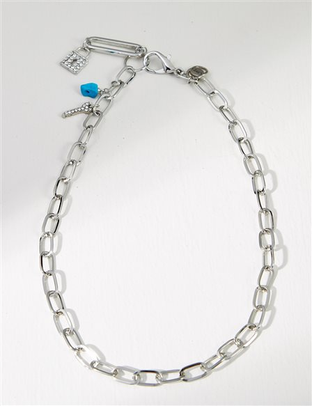 Chain Necklace B21 KLY02 Nickel