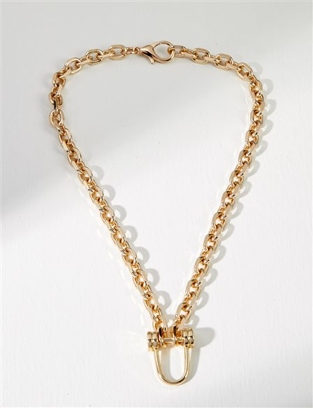Small Chain Necklace B21 KLY03 Gold
