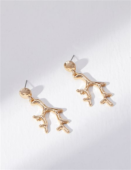 Tree Branch Earrings B21 KP01 Gold