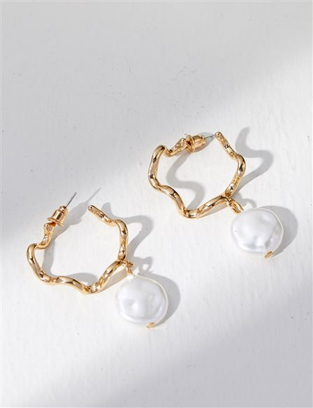 Pearl Earrings B21 KP09 Gold