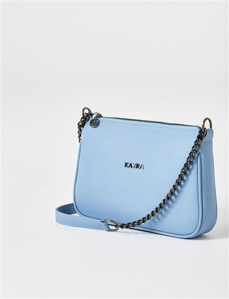 Single Compartment Chain Strap Bag B21 CNT11 Blue
