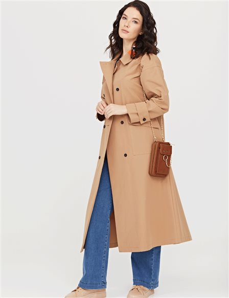 Oversized Trenchcoat B21 14009A Beige