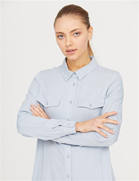 KYR Double Pocket Tunic B21 81014 Blue
