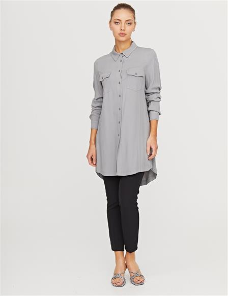 KYR Double Pocket Tunic B21 81014 Gray