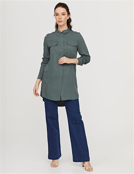KYR Double Pocket Tunic B21 81014 Petrol Green