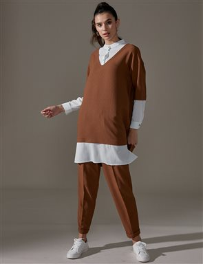 KYR Shirt Detailed Tunic A9 81024 Camel