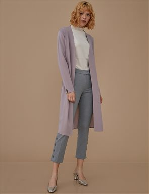 Button Leg Pants A9 19048 Grey