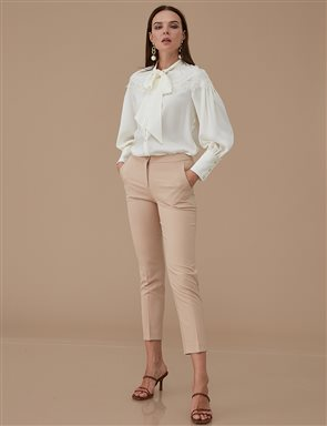 Basic Tight Pants SZ-19501 Beige