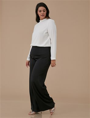 Wide Leg Oversize Pants A9 19068 Black
