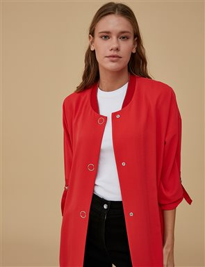 Snap Fastener Jacket A9 13116 Red