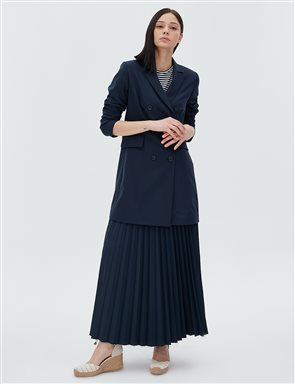 Basic Pleated Skirt SZ 12501 Navy