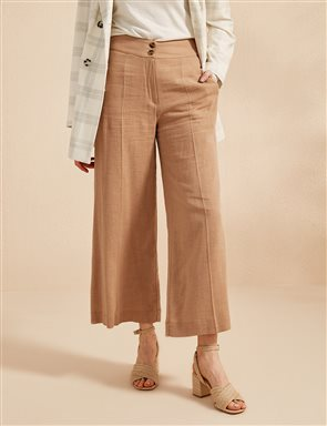 Wide Leg Pants B20 19011 Beige