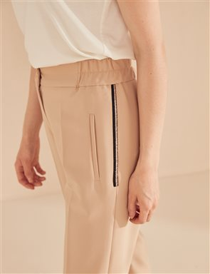 KYR Strip Detailed Pants B20 79022 Beige